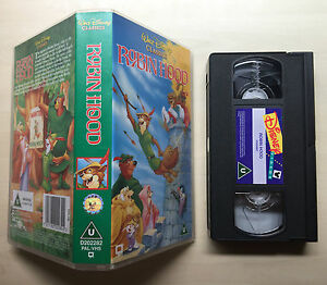DISNEY - ROBIN HOOD - VHS VIDEO
