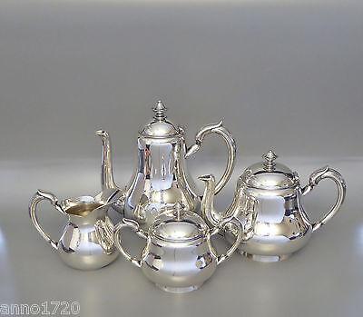 Christofle versilbert Jugendstil Tee- Kaffee- Kanne Milchkännchen Zuckerdose (D)