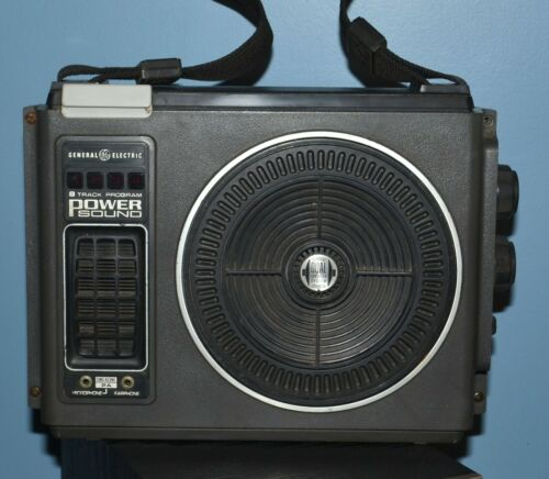General Electric GE Power Sound 8-Track Player - Dual Speaker System - 3-5503