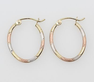 14k Real 3color Yellow White Rosegold 1.5mm Width Diacut ...