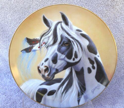 HORSE PLATE Shadow Dancer Danbury Mint Heritage Of Horses 1993 Derk Hansen