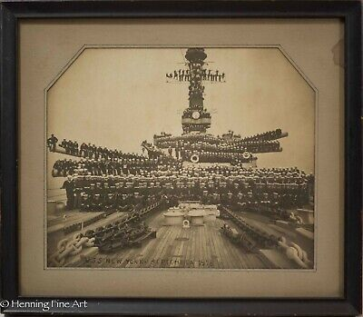 Fine Antique Military Photograph of the U.S.S. New York BB-34 in 1918 RARE!