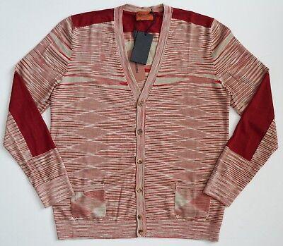 $660 Authentic MISSONI ORANGE LABEL 100% WOOL Knitted Cardigan Sweater IT-48 M