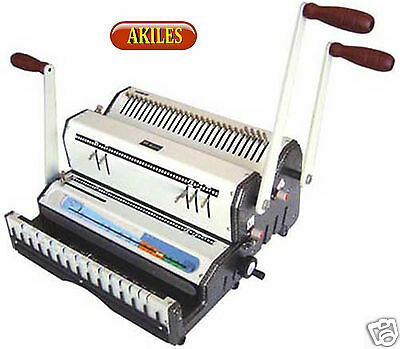 Akiles Duomac-421 Binding Machine Punch 41 Coil 21 Wire New Dual Use
