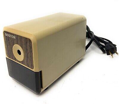 Vintage Boston Desktop Electric Pencil Sharpener Model 18 Usa Tested Hunt Mfg.