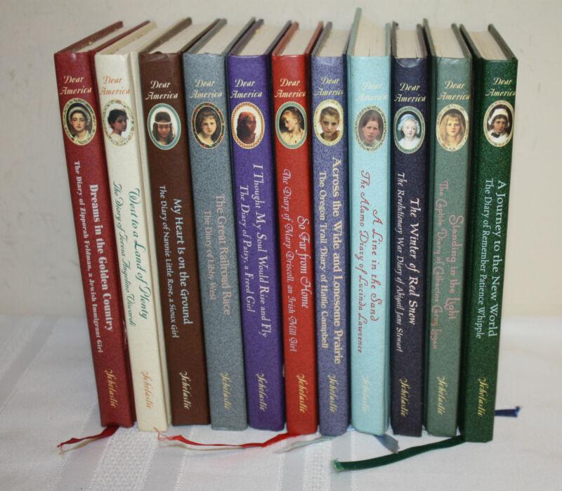Dear America Scholastic Journals Historical Fiction Hardcover Books Lot 11