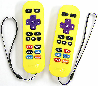 2 pcs As IS New Others Yellow Replacement Remote for ROKU Player 1/2/3/4 Express