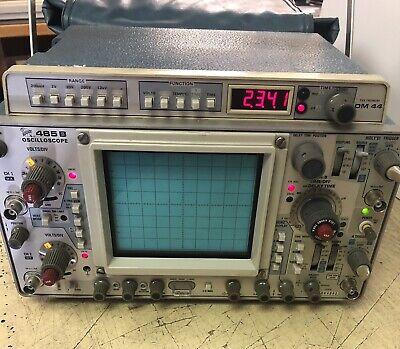 Tektronix 465b Dual Oscilloscope With Dm 44 Digital Multimeter Manuals Used