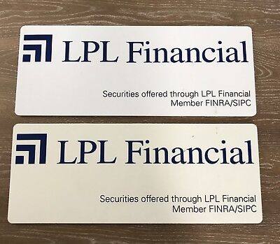 Lpl Financial Office Sign Set Of Two