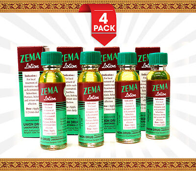 Zema Lotion 4Pack Dermatitis Psoriasis Eczema Treatment Salicylic Acid 12