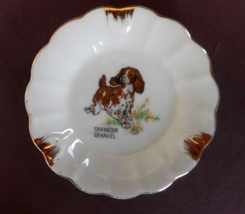 SPRINGER SPANIEL Porcelain ASH TRAY Vintage Made in Japan
