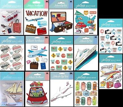 U CHOOSE Jolee's VACATION & TRAVEL Stickers Airplane Road Trip Luggage Tags Ship (Airplane Ship)