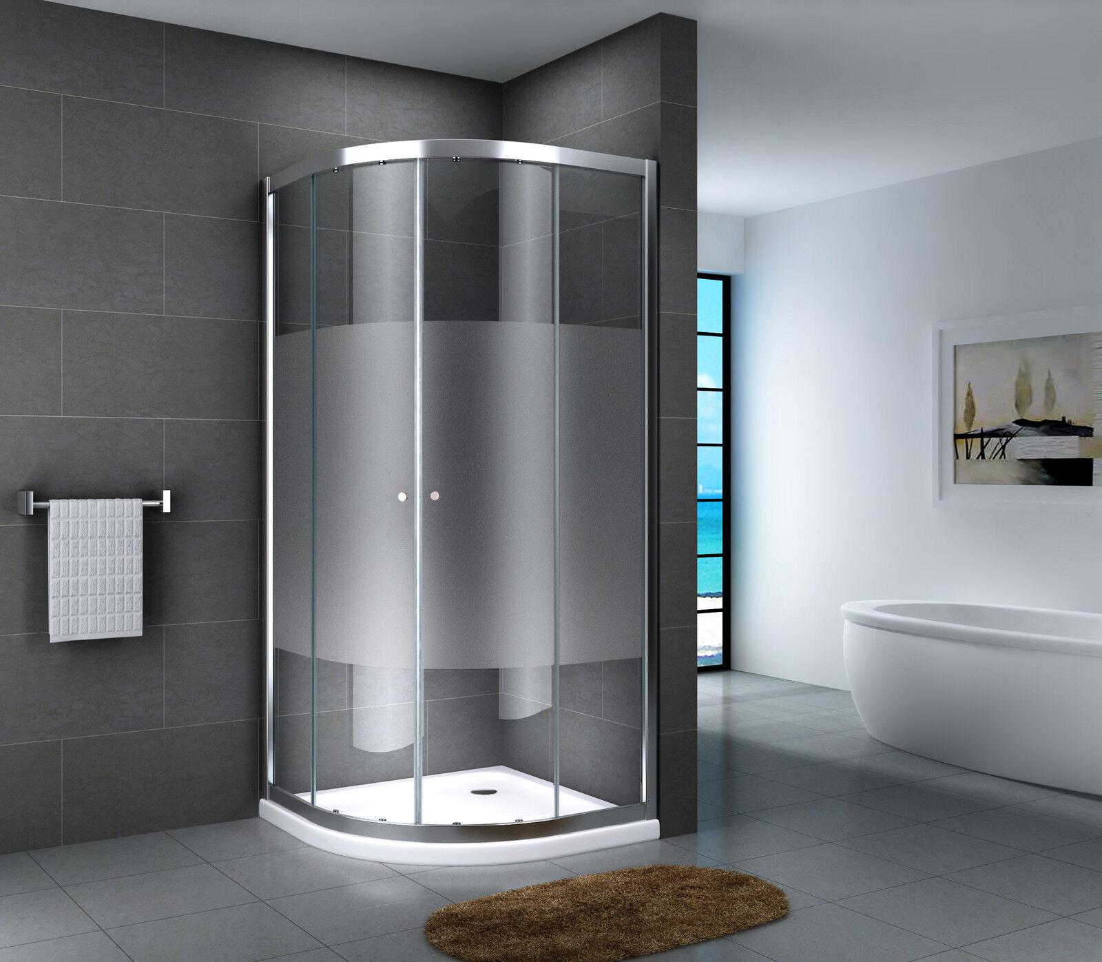 duschkabine eckdusche viertelkreis duschabtrennung glas dusche runddusche esg eur 169 95. Black Bedroom Furniture Sets. Home Design Ideas