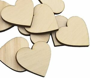 Crafting supplies 100 laser cut wooden hearts for Wooden craft crosses wholesale