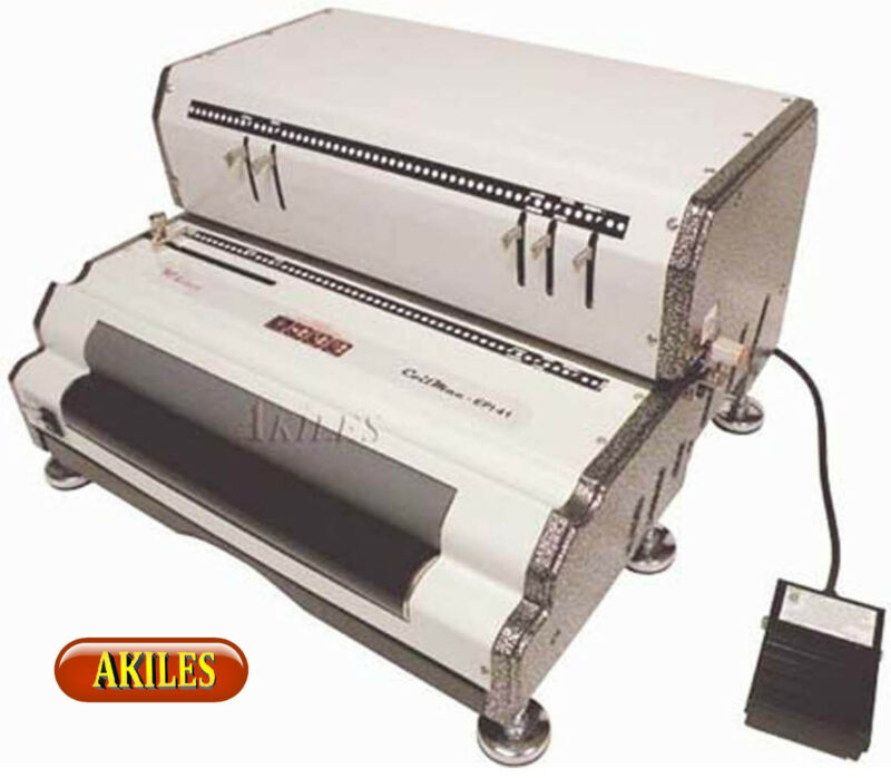 Akiles Coilmac-EPI Electric Coil Binding Machine & Punch & Inserter [New]