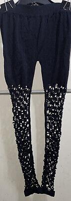 Black Fishnet Leggings (NEW Junior's Black Fishnet Woven Leggings by F&F One Size Fits)