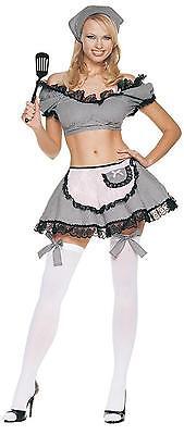 Sexy Böse Hausfrau 5 Stk. Bauchfreies Top Strümpfe Kostüm M/L Ua8065ml