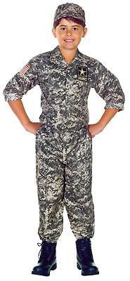 Kinder Offiziell U.S.Army Tarnung Hemd Hose Hut Militär Kostüm - Tarnung Kostüm Kinder