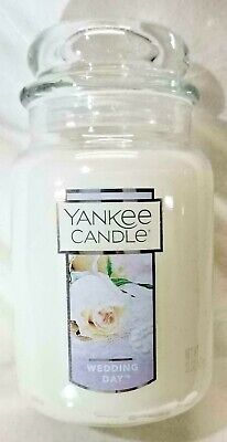 NEW! Yankee Candle WEDDING DAY Large Jar 22 Oz White Gift Wax Floral SHIPS FREE!