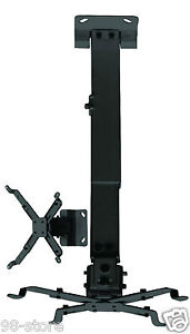 PROJECTOR-ceiling-Bracket-Holder-UNIVERSAL-2-NEW-Black