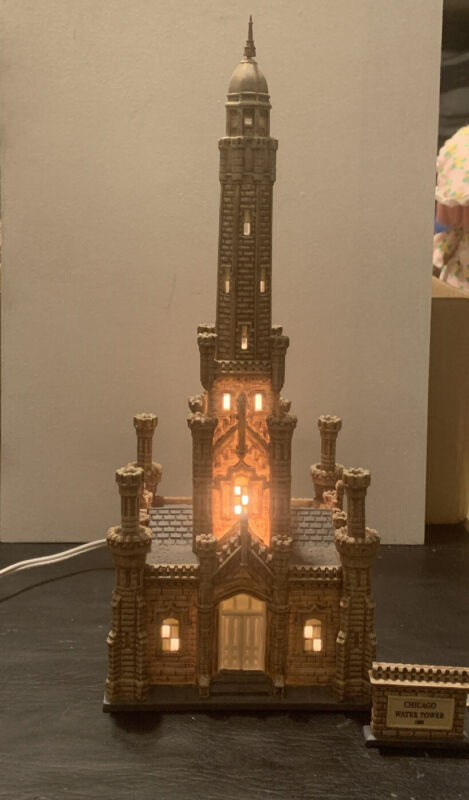 Dept 56 Christmas in the City HISTORIC CHICAGO WATER TOWER 56.59209 RARE