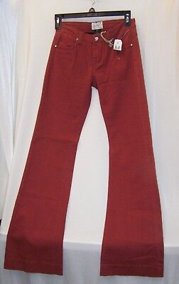 Blossom & Clover Four Pockets Bootcut Bell Bottom Burnt Orange Twill Pant Size 0 Blossom Bootcut Pant