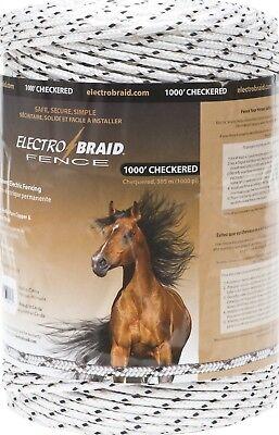 WHITE Electrobraid PBRC1000C2-EB Horse Fence.  2 - 1000 Feet Reels of Checkered