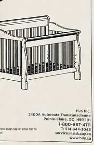 Crib, day bed 4 in 1 convertible
