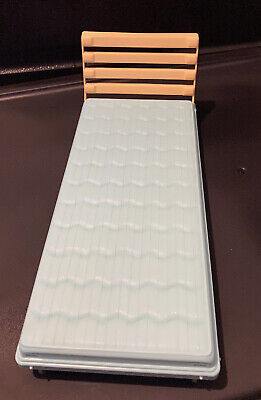 """Barbie My Doll House 12"""" BED / LOUNGER Mattel 2000 on wheels plastic blue pool"""