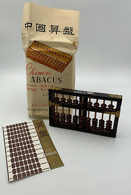 Chinese Abacus Lotus Flower Original Packaging Instructions 9 Rods 63 Beads 79