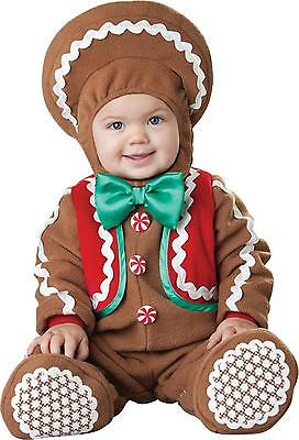 INFANT TODDLER BABY CHRISTMAS SWEET GINGER BREAD COSTUME DRESS IC56001 - Bread Costume