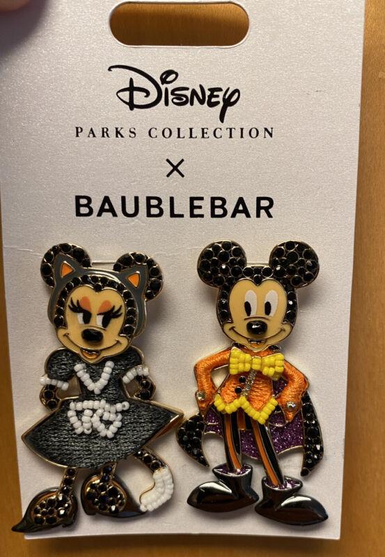 Disney Parks Baublebar Mickey Minnie Halloween Costume Post Earrings 2021 - NEW!