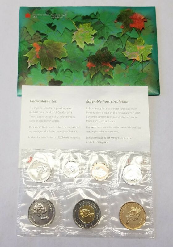 2003 Canada Uncirculated Proof-Like Mint Set w/ original Envelope & COA