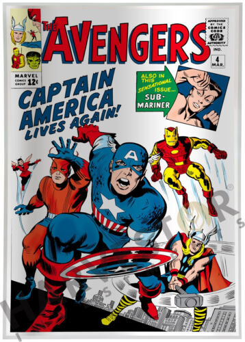MARVEL COMICS - AVENGERS #4 - SILVER FOIL 1 OZ. - CAPT. AMERICA - 2ND IN SERIES