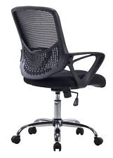 Mesh Task Chair with Arms, Swivel & Tilt, Ergonomic Design Office Home Mid-Back