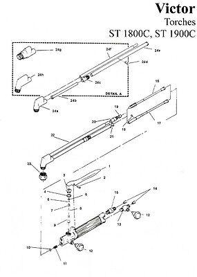 Repair Kit - Victor St1900 St1800 St 1800 1900 Cutting Torch Rebuild Av1900rk