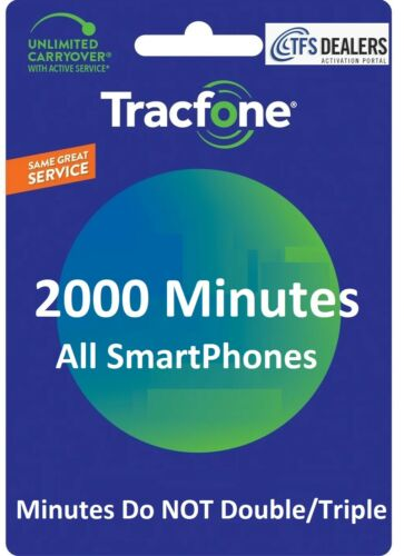 TracFone 2000 Minutes for Smart Phones -- Direct Refill, fast & right