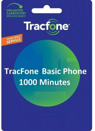 TracFone 1000 Minutes For Basic Phones. Direct Fast Refill