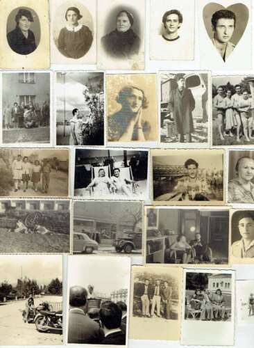 Collection of 53 antique and old photos of Jewish people, Romania, Eretz Israel,