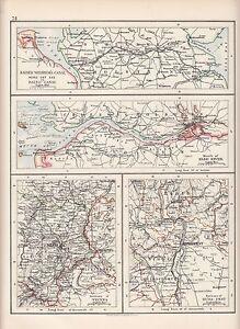 1897-VICTORIAN-MAP-KAISER-WILHELMS-CANAL-ELBE-RIVER-ENVIRONS-VIENNA-BUDAPEST
