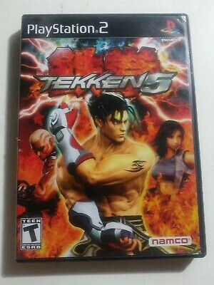 Tekken 5 (Sony PlayStation 2, 2005) PS2 Game Black Label - Complete and Tested