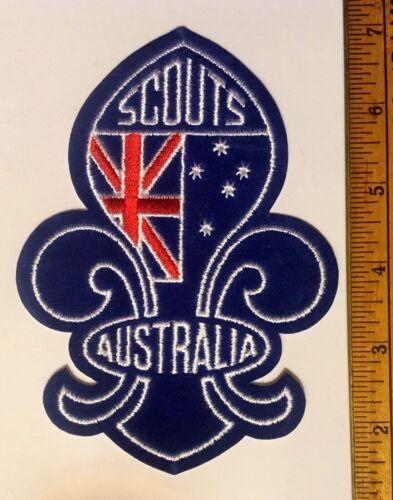 Scouts Australia Large Fleur De Lis Felt Patch New