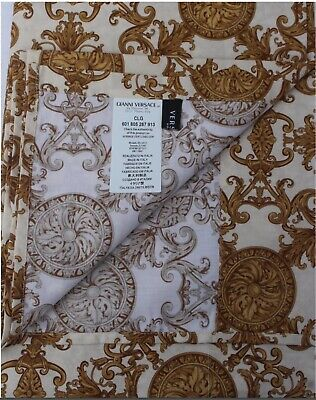 "RARE RARE NWT Versace Home QUEEN Top and Fitted Sheets- 2 pcs ""Le Dome Baroque"""