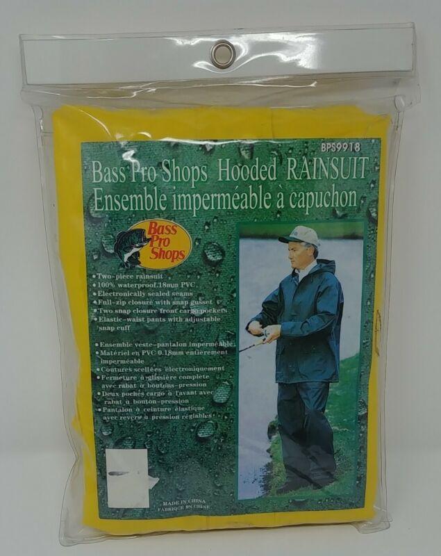 Bass Pro Shops Fishing Hooded Rain Gear Suit BPS9918 Size XL