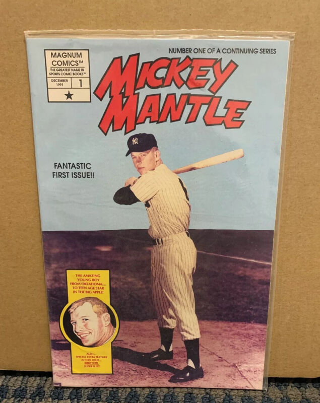 """1991 December MICKEY MANTLE """"Magnum Comics"""" (Number 1) Fantastic First Issue A13"""