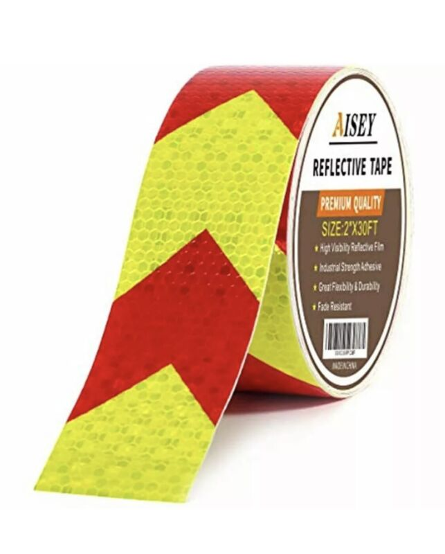 Reflective Tape Waterproof High Visibility Red & Yellow, Industrial Marking X