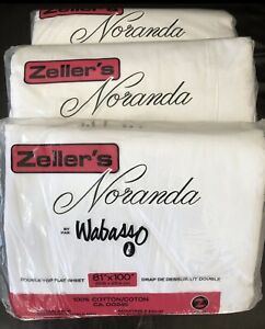 3 Double Top Flat Sheets.New In Packade. All For $10.00