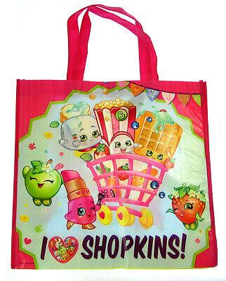 Grande Reutilizable Niña Bolso Compras Viaje Plegable Bolsas de la Shopkins