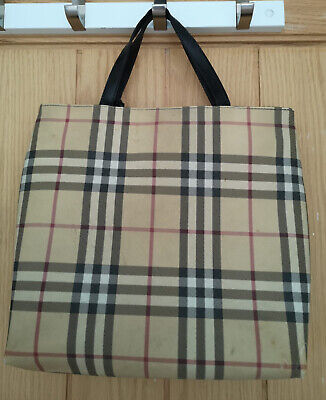 Vintage Genuine Burberry Cadogan Tote Bag. New With Tags
