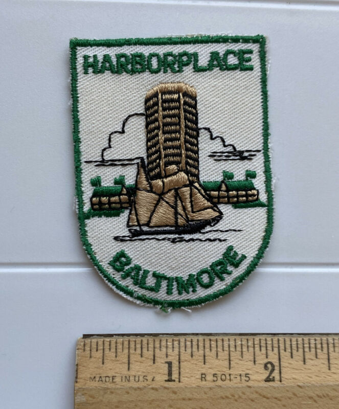 Harborplace Baltimore Harbor World Trade Center Souvenir Embroidered Patch Badge